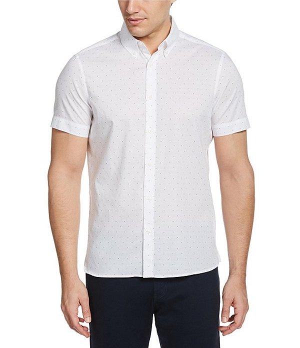 ペリーエリス レディース シャツ トップス Dot Print Dobby Short-Sleeve Woven Shirt Bright White