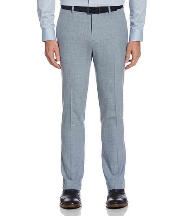 ペリーエリス レディース ワンピース トップス Slim-Fit Sharkskin Bi-Stretch Dress Pants Cerulean