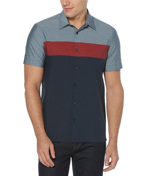 ペリーエリス レディース シャツ トップス Color Block Short-Sleeve Woven Shirt Tomato