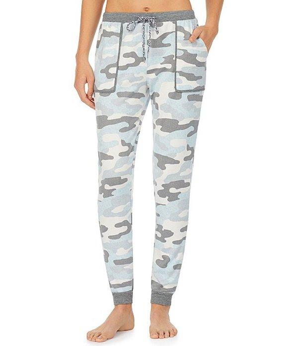 ケンジー レディース カジュアルパンツ ボトムス Camouflaged Printed Jersey Knit Sleep Jogger Pants Blue Print