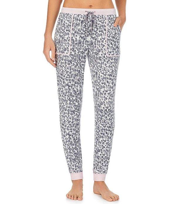 ケンジー レディース カジュアルパンツ ボトムス Animal-Print Jersey Knit Sleep Jogger Pants Grey Print