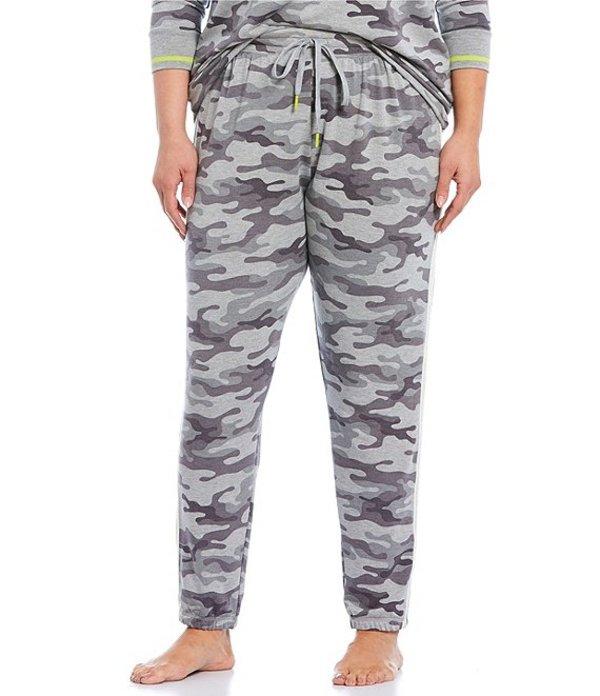 ピージェイサルベージ レディース ナイトウェア アンダーウェア Plus Camouflaged Printed French Terry Jogger Sleep Pants Grey