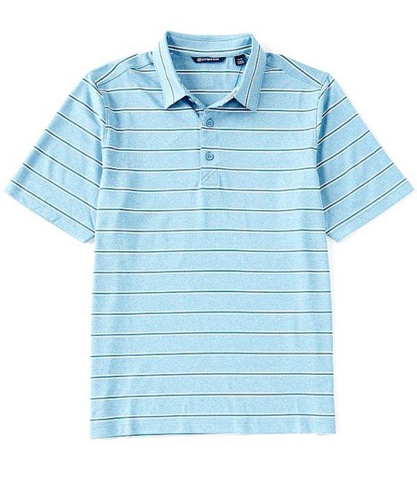 カッターアンドバック レディース シャツ トップス Forge Heather Stripe CB DryTec Short-Sleeve Polo Chambers