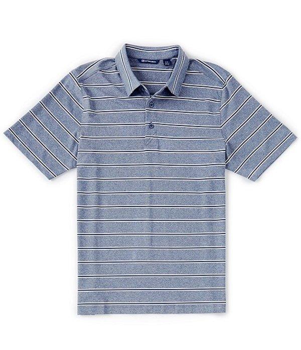 カッターアンドバック レディース シャツ トップス Forge Heather Stripe CB DryTec Short-Sleeve Polo Indigo