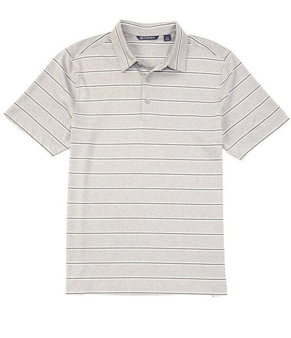 カッターアンドバック レディース シャツ トップス Forge Heather Stripe CB DryTec Short-Sleeve Polo Polished