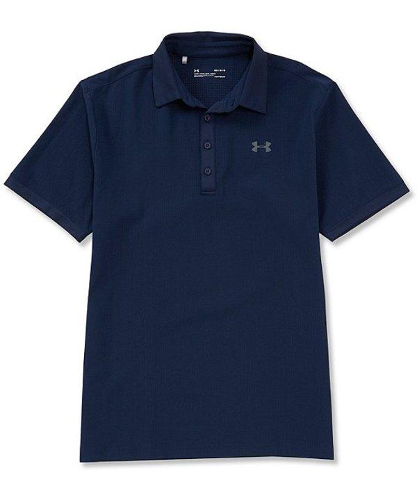 アンダーアーマー レディース シャツ トップス HeatGearR Golf Short-Sleeve Loose Playoff Vented Polo Academy/Pitch Gray