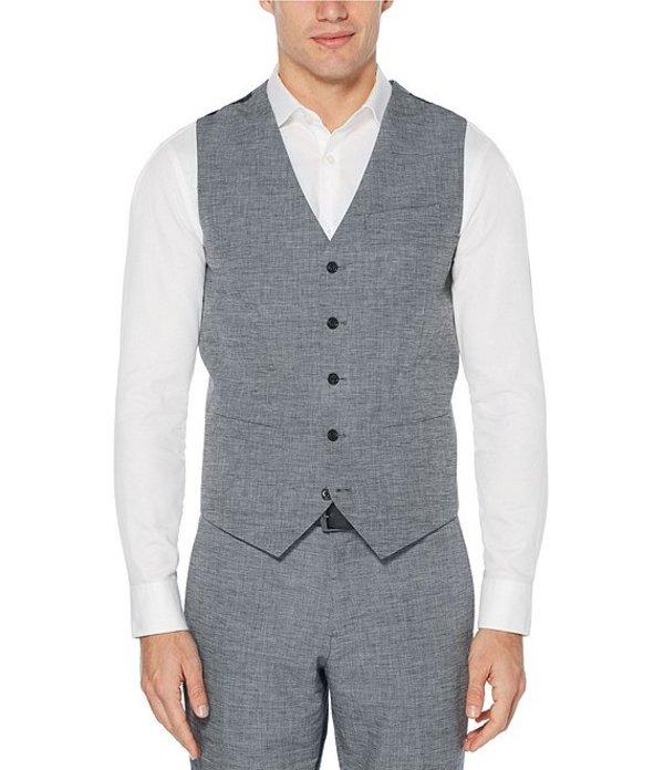 ペリーエリス レディース ベスト アウター Slim-Fit End-On-End Linen Suit Separates Vest Bijou Blue