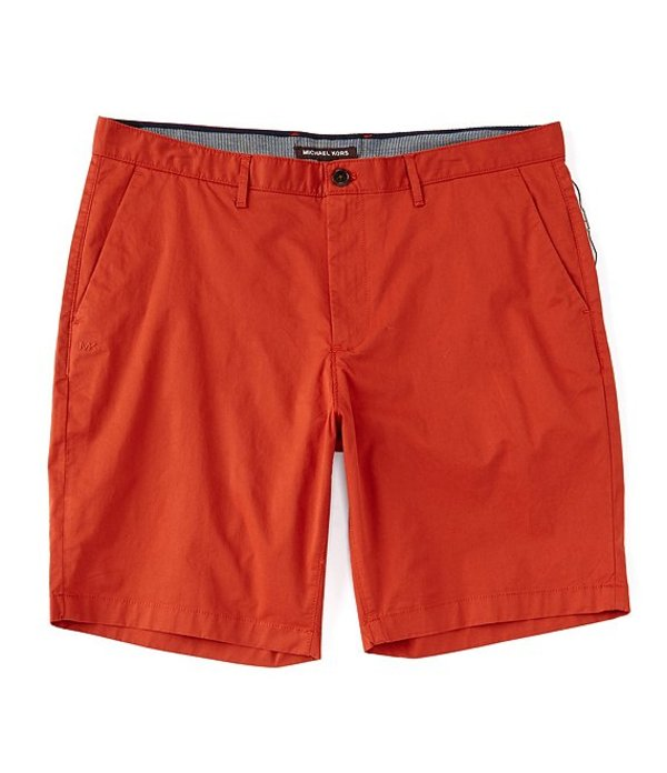 マイケルコース レディース ハーフパンツ・ショーツ ボトムス Solid Washed Poplin 9#double; Inseam Shorts Dark Persimmon