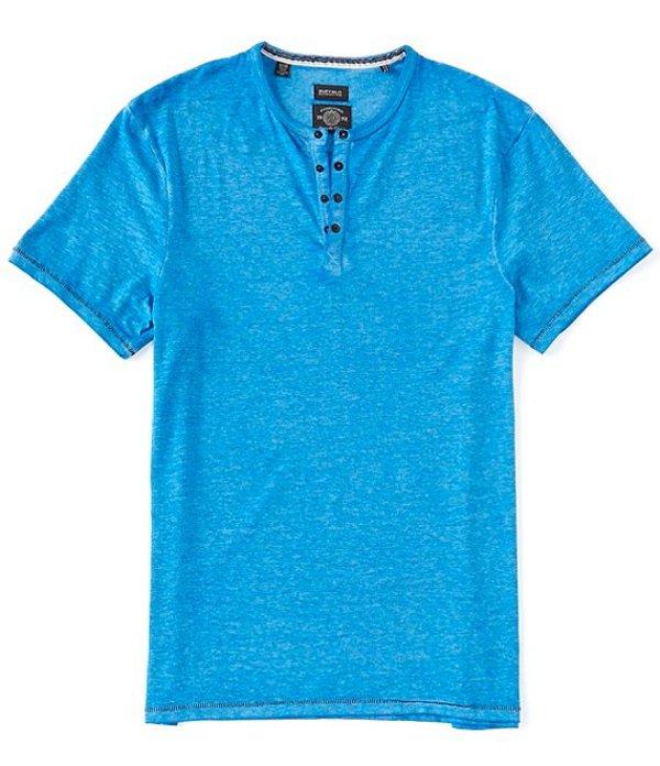バッファロー・デイビッド・ビトン レディース シャツ トップス Kasum Short-Sleeve Burnout Henley Snorkel Blue