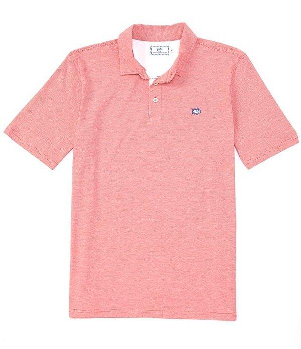 サウザーンタイド レディース シャツ トップス Channel Marker Stripe Short-Sleeve Polo Shirt Roman Red