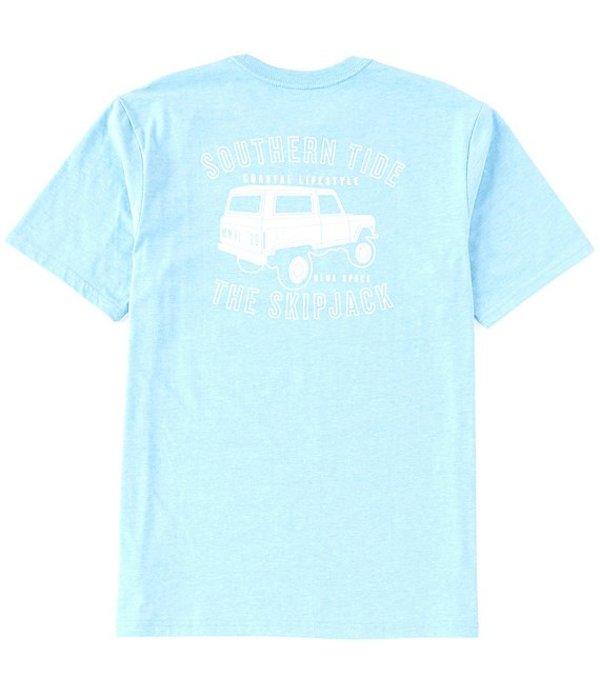 サウザーンタイド レディース シャツ トップス Coastal Lifestyle Truck Short-Sleeve Tee Heather Shoreline Blue