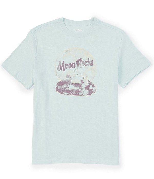 ダニエル クレミュ レディース シャツ トップス Jeans Moon Rocks Short-Sleeve Graphic Tee Blue Haze