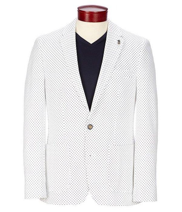ムラノ レディース ジャケット・ブルゾン アウター Slim-Fit Printed Knit Blazer White