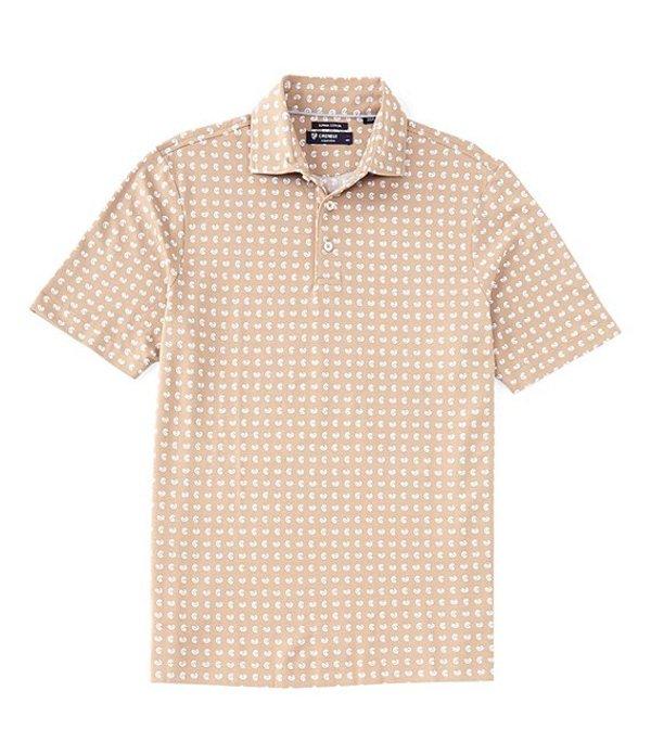 ダニエル クレミュ レディース シャツ トップス Paisley Print Short-Sleeve Polo Shirt Tan