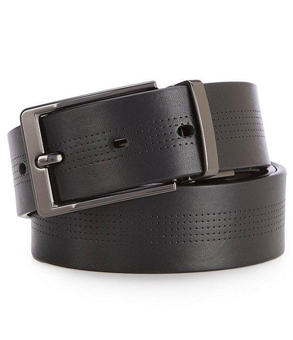ムラノ レディース カジュアルパンツ ボトムス Dotted Black Reversible Leather Belt Black