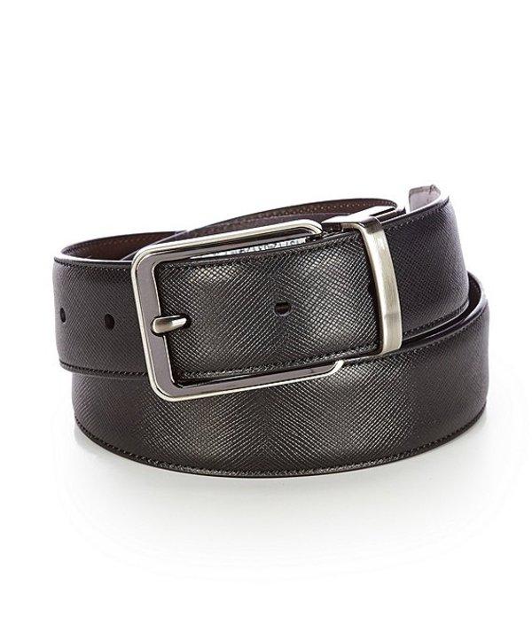 ラウンドトゥリーアンドヨーク レディース ワンピース トップス Saffiano Reversible Leather Belt Black