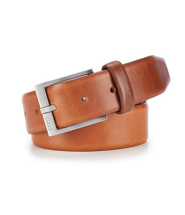 ヒューゴボス レディース カジュアルパンツ ボトムス Erron Leather Belt Medium Brown