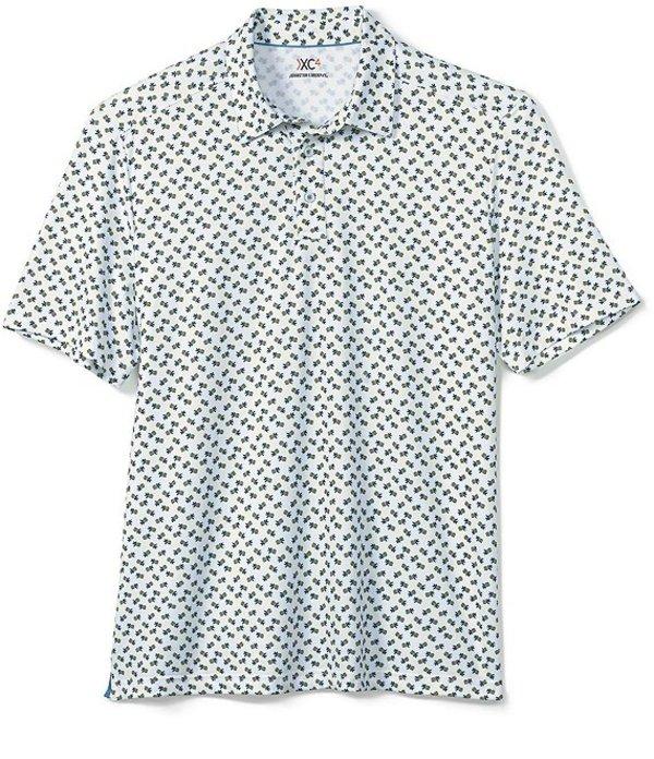 ジョンストンアンドマーフィー レディース シャツ トップス XC4 Pineapple Print Short-Sleeve Polo Shirt Yellow