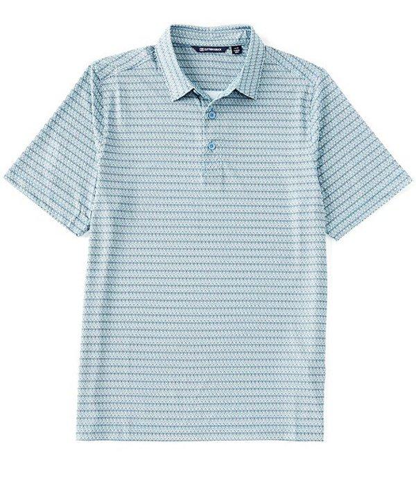 カッターアンドバック レディース シャツ トップス Pike Zig Zag Print Short-Sleeve Polo Chambers