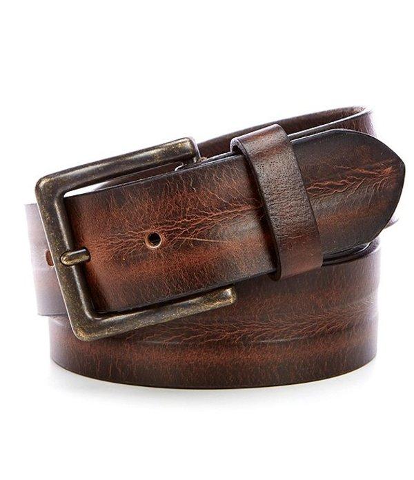 シルバー ジーンズ レディース カジュアルパンツ ボトムス Eddie Leather Belt Medium Brown