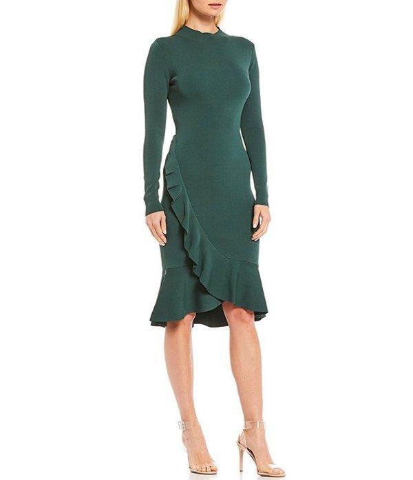 ジャンビニ レディース ワンピース トップス Sara Peplum Ruffle Hem Sweater Dress Forest