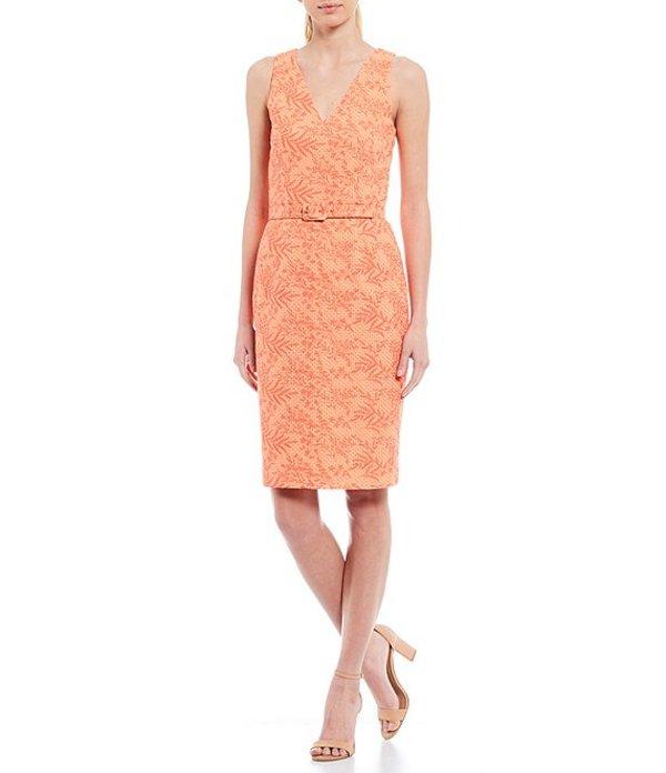 アントニオ メラーニ レディース ワンピース トップス Nala Cotton Eyelet V-Neck Sleeveless Belted Dress Clementine