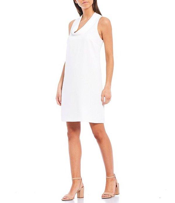 トリーナターク レディース ワンピース トップス Naples Cowl Neck Sleeveless Shift Dress Whitewash