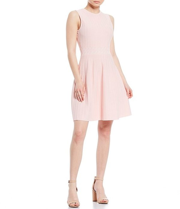 テッドベーカー レディース ワンピース トップス Balieey Fit & Flare Knit Sleeveless Dress Baby Pink