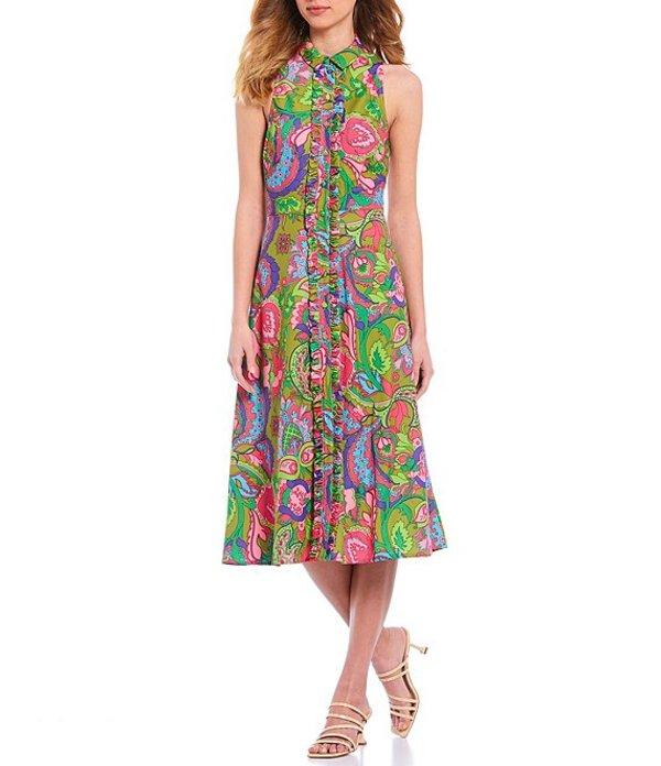 ジュリーブラウン レディース ワンピース トップス Avila Stretch Twill Classic Collar Sleeveless Midi Dress Pastille