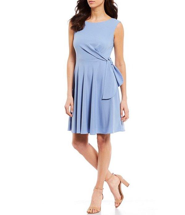 タハリエーエスエル レディース ワンピース トップス Crepe Side Tie A-Line Sleeveless Dress Periwinkle