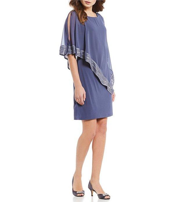 イグナイト レディース ワンピース トップス Foil-Trim Asymmetrical Hem Dress Lilac Haze