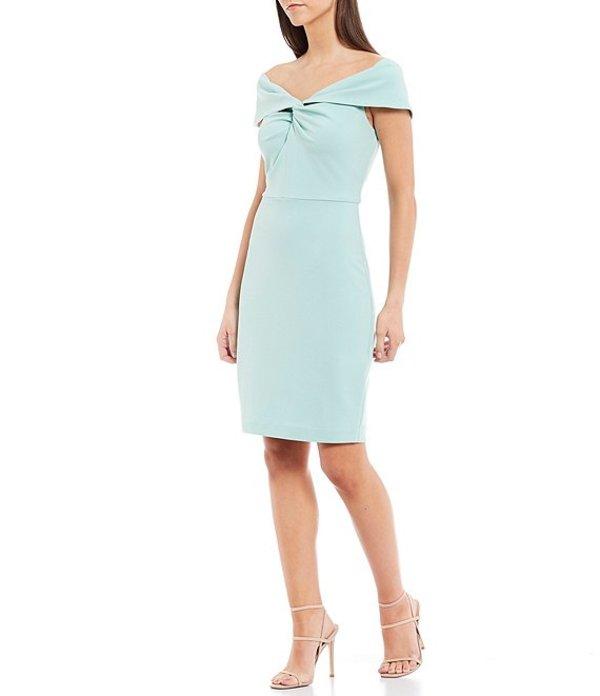 ベルバッジリーミシュカ レディース ワンピース トップス Libby Front Twist Knot Off The Shoulder Stretch Crepe Dress Mint