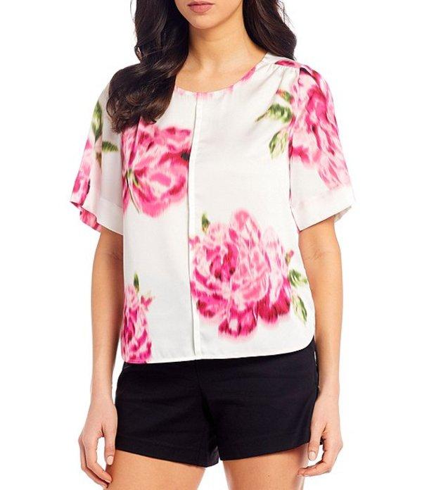 ギブソンアンドラティマー レディース シャツ トップス Floral Print Short Sleeve Blouse Multi