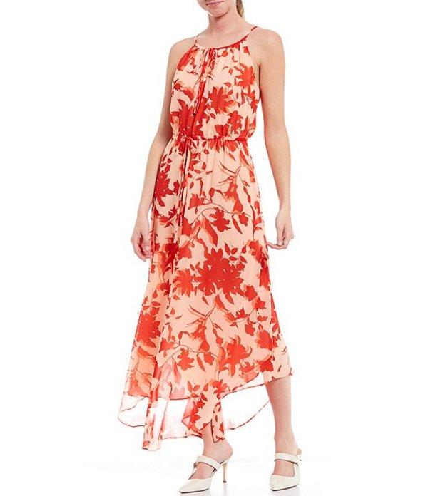 ギブソンアンドラティマー レディース ワンピース トップス Georgette Key Hole Halter Tie Neck Sleeveless Floral Print Maxi Dress Multi
