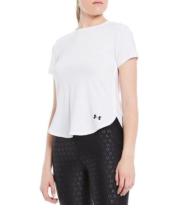 アンダーアーマー レディース Tシャツ トップス Sport Crossback Short Sleeve Tee White