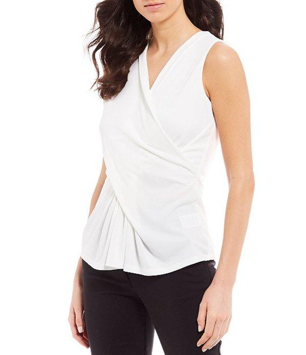 ダナキャラン レディース Tシャツ トップス New York Dual Drape Sleeveless Shell Top Cream