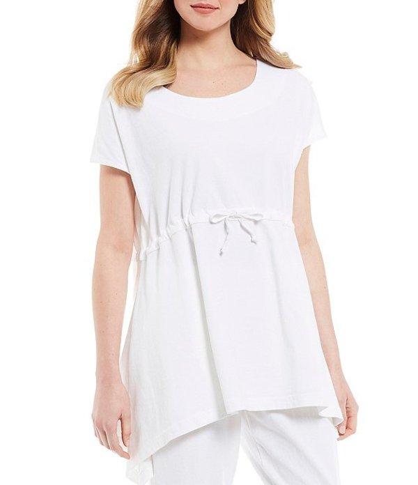 ブライン ウォーカー レディース Tシャツ トップス Harley Cotton Jersey Cinched Waist Short Sleeve Hi-Low Shirt White