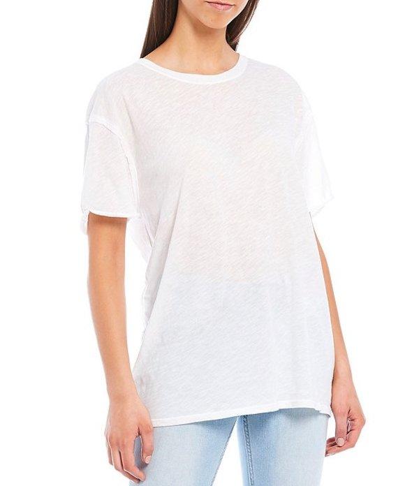 フリーピープル レディース Tシャツ トップス Clarity Ringer Short Sleeve Cotton Blend Tee Optic White