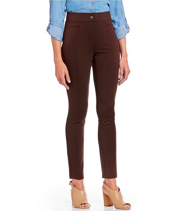 イントロ レディース カジュアルパンツ ボトムス Bella Solid Double Knit Slim Her Straight Leg Pants Espresso Roast