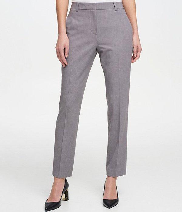 ダナ キャラン ニューヨーク レディース カジュアルパンツ ボトムス Essex Straight Leg Ankle Pant Light Grey Heather