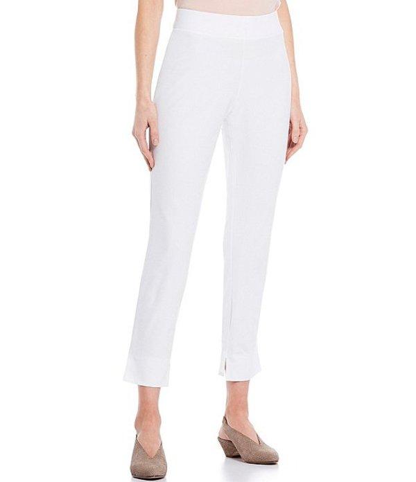 エイリーンフィッシャー レディース カジュアルパンツ ボトムス Washable Stretch Crepe Slim Ankle Pant With Side Slits White