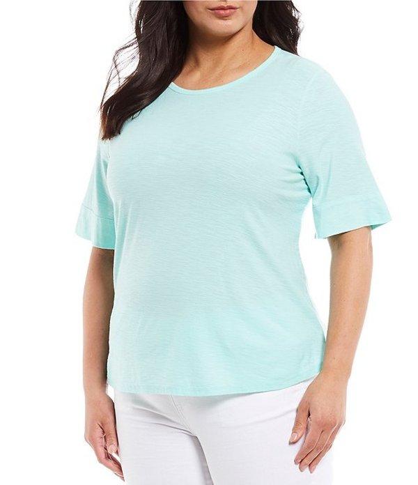 ウエストバウンド レディース Tシャツ トップス Plus Size Short Sleeve Crew Neck Tee Beach Glass