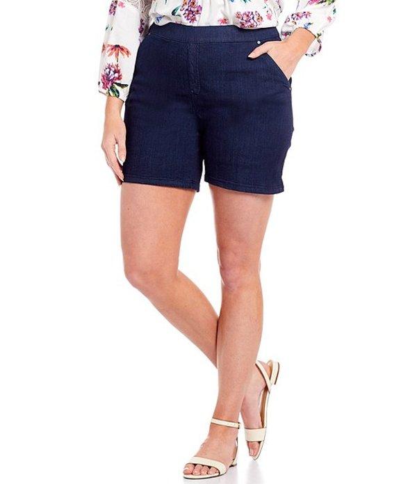 イントロ レディース ハーフパンツ・ショーツ ボトムス Plus Size Rose Stretch Denim Shorts Freedom Dark Wash
