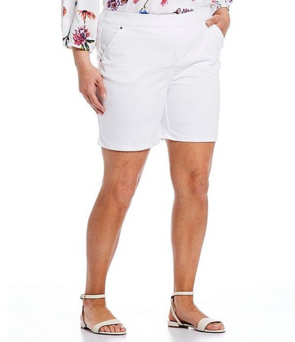 イントロ レディース ハーフパンツ・ショーツ ボトムス Plus Size Rose Stretch Denim Shorts Bright White