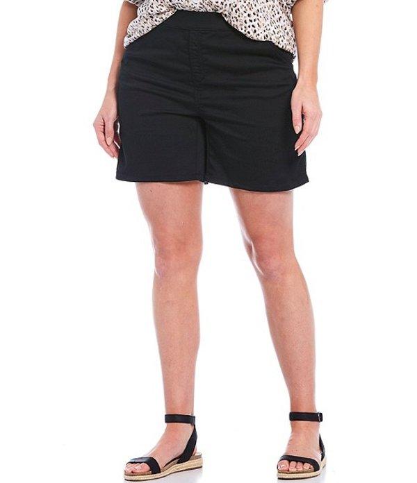 イントロ レディース ハーフパンツ・ショーツ ボトムス Plus Size Rose Stretch Denim Shorts Ebony Black