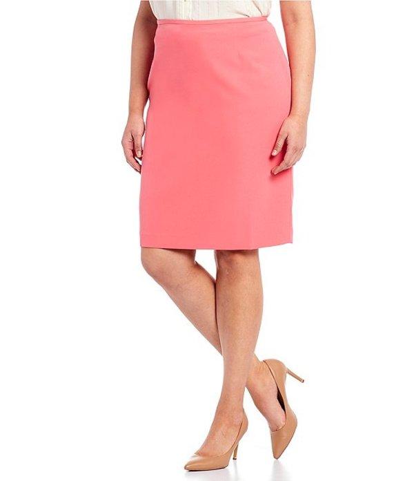 タハリエーエスエル レディース スカート ボトムス Plus Size Twill Pencil Skirt Rouge Red