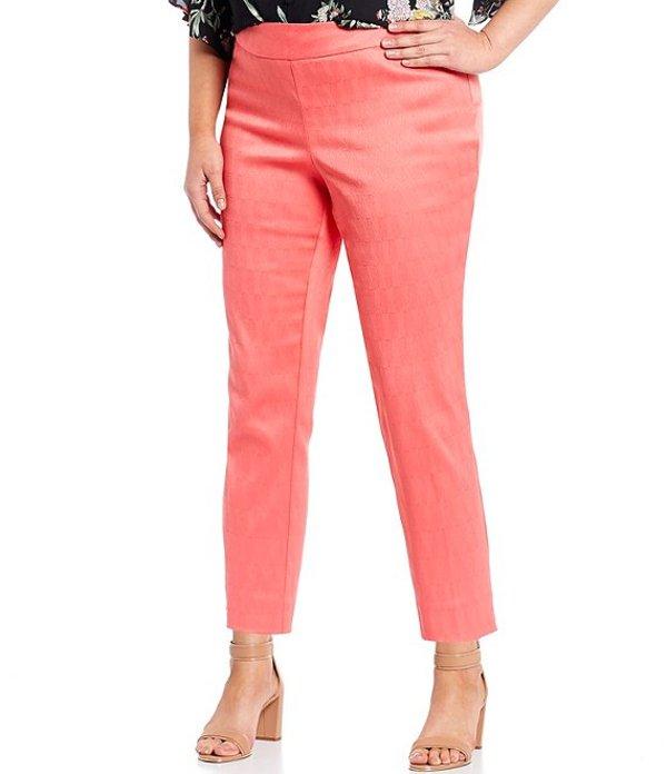 インベストメンツ レディース カジュアルパンツ ボトムス Plus Size the PARK AVE Fit Novelty Pull-On Classic Ankle Pants Coral