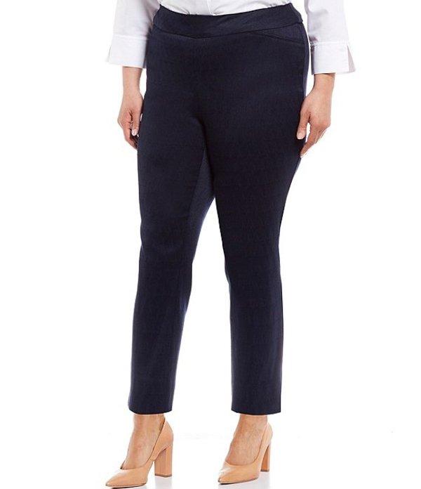 インベストメンツ レディース カジュアルパンツ ボトムス Plus Size the PARK AVE Fit Novelty Pull-On Classic Ankle Pants Dark Navy