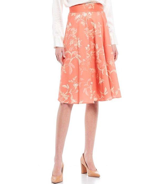 アントニオ メラーニ レディース スカート ボトムス Alice Stretch Cotton Floral Print A-Line Skirt Clementine/Vanilla