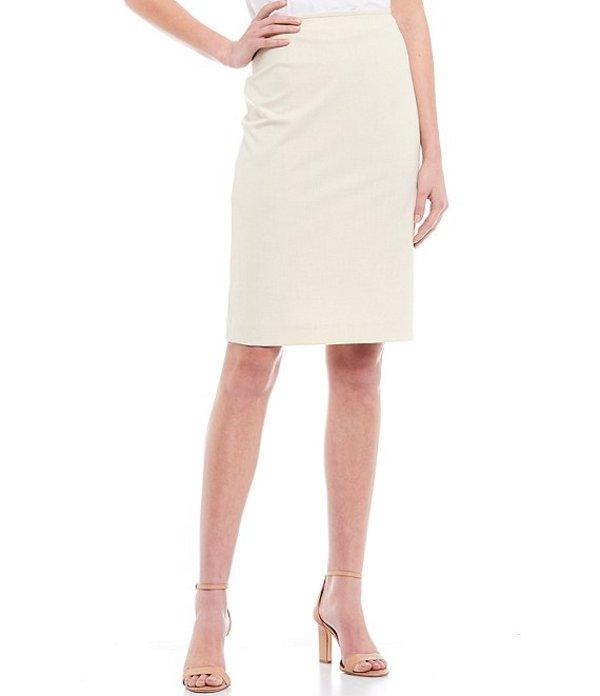 アントニオ メラーニ レディース スカート ボトムス Hanson Crosshatch Suiting Pencil Skirt Dune/Ivory